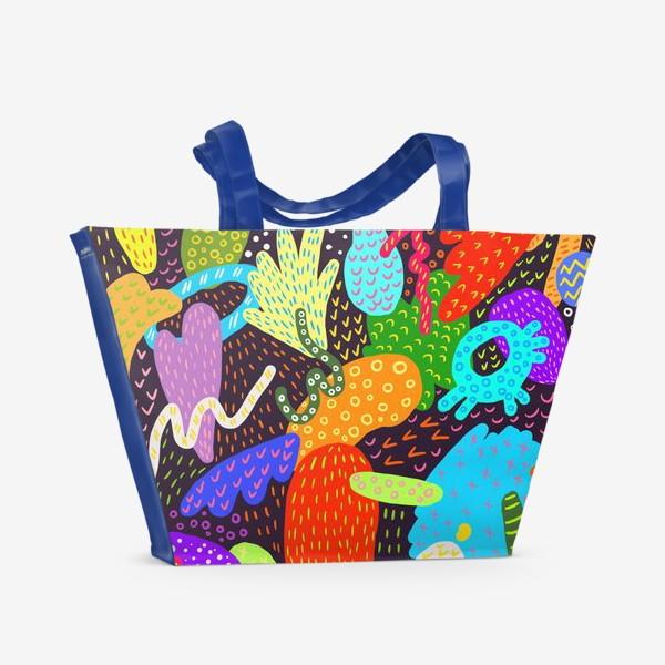 Пляжная сумка «Яркая абстракция»