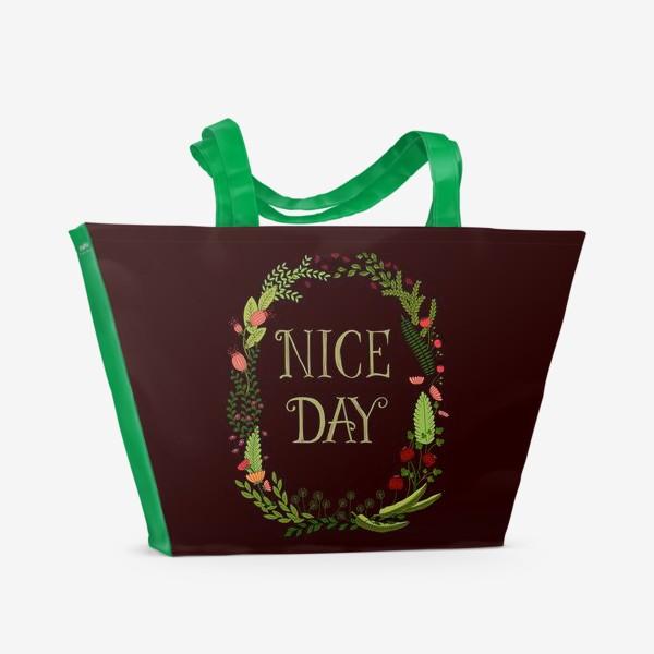 Пляжная сумка «Хороший день_1»