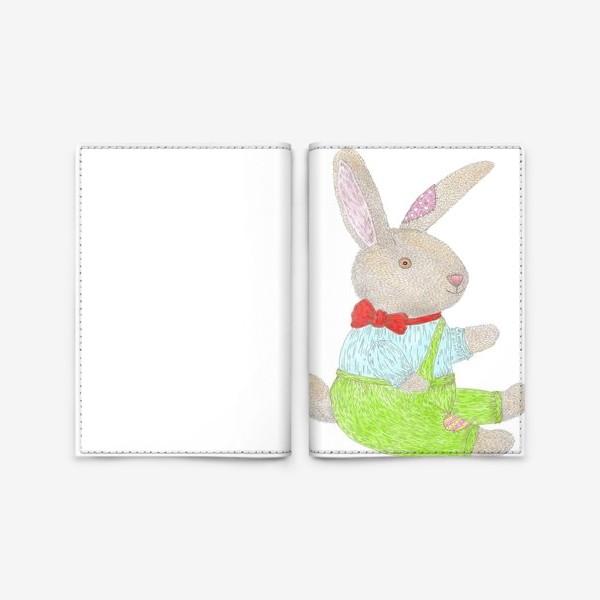 Обложка для паспорта «Плюшевый кролик»