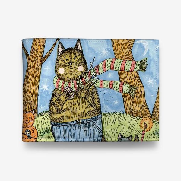 Кошелек «Кот и котята празднуют Пасху»
