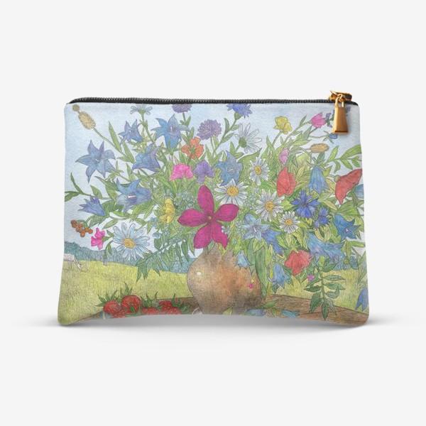 Косметичка «Большой букет полевых цветов»