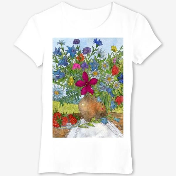 Футболка «Большой букет полевых цветов»