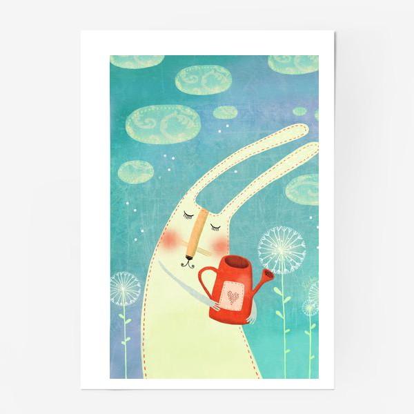 Постер «Зая с лейкой»