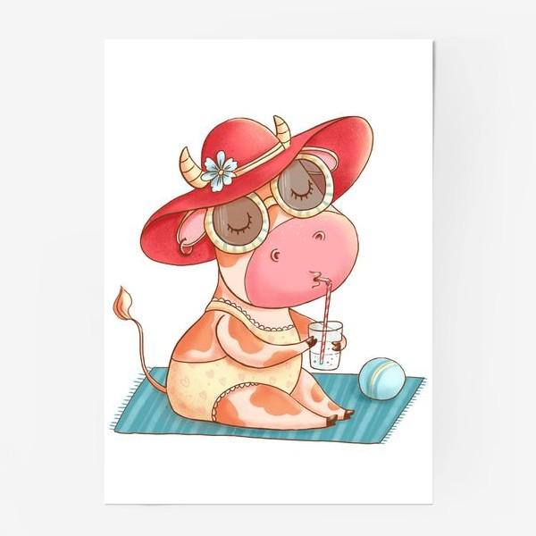 Постер «Летняя коровка»