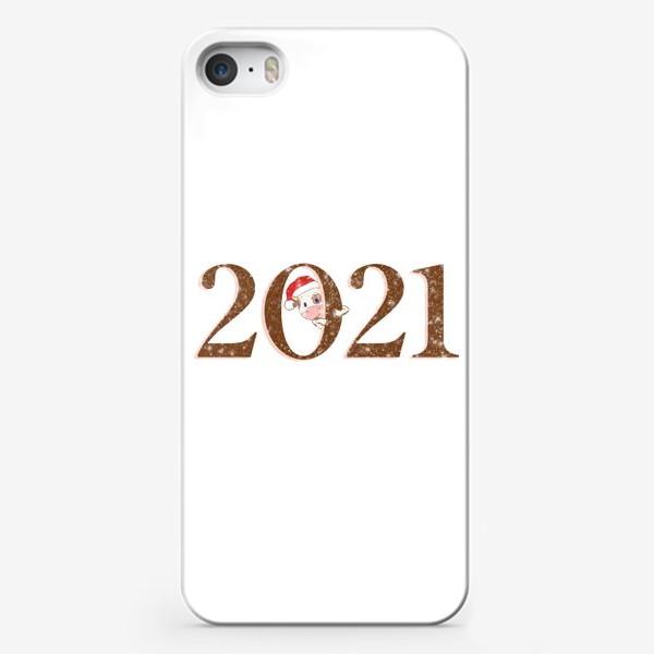Чехол iPhone «2021 Год Быка. Новогодний принт»