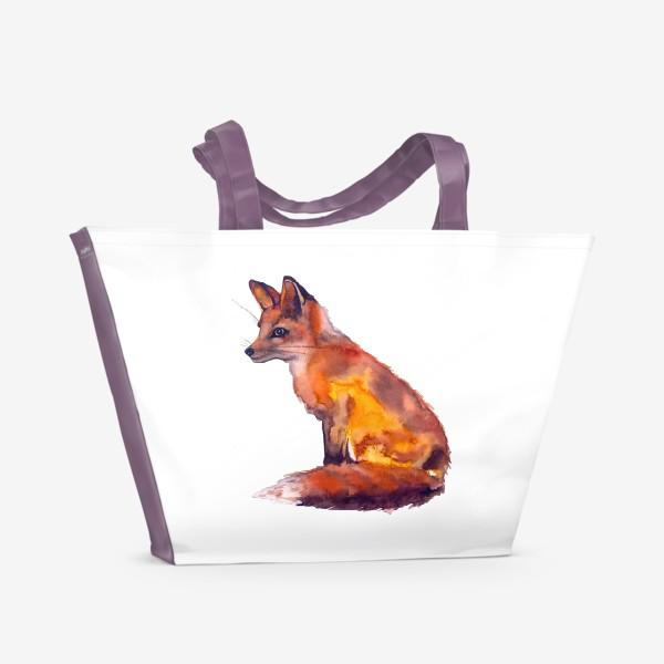 Пляжная сумка «Лиса рыжая»