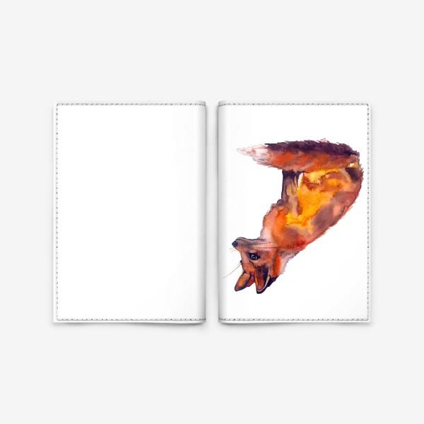Обложка для паспорта «Лиса рыжая»