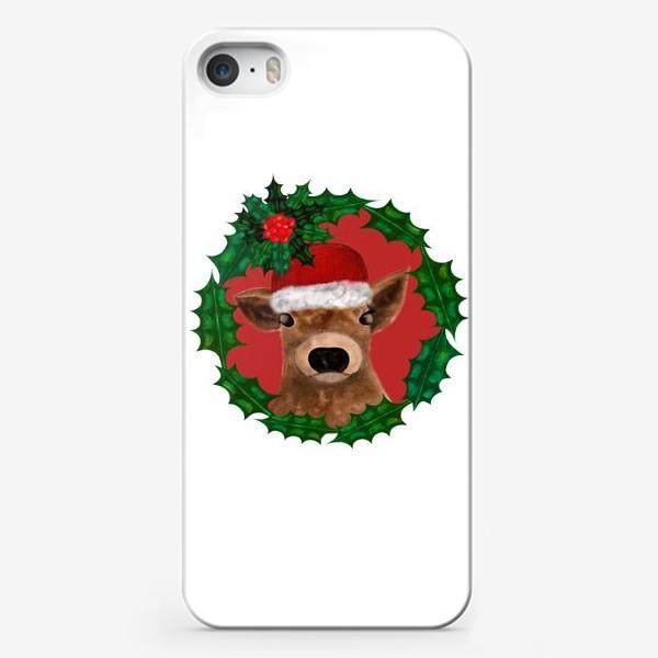 Чехол iPhone «Новогодний теленок Борька»