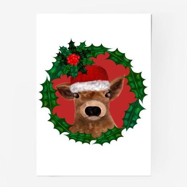 Постер «Новогодний теленок Борька»
