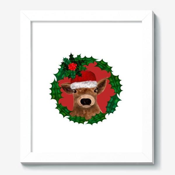 Картина «Новогодний теленок Борька»