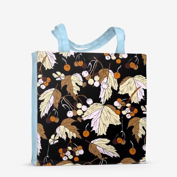 Сумка-шоппер «ягоды и листья»