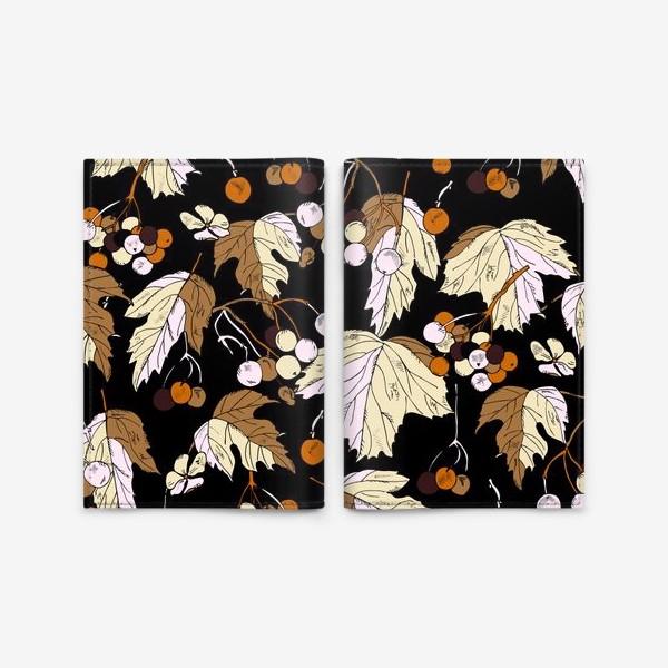 Обложка для паспорта «ягоды и листья»