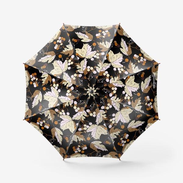 Зонт «ягоды и листья»