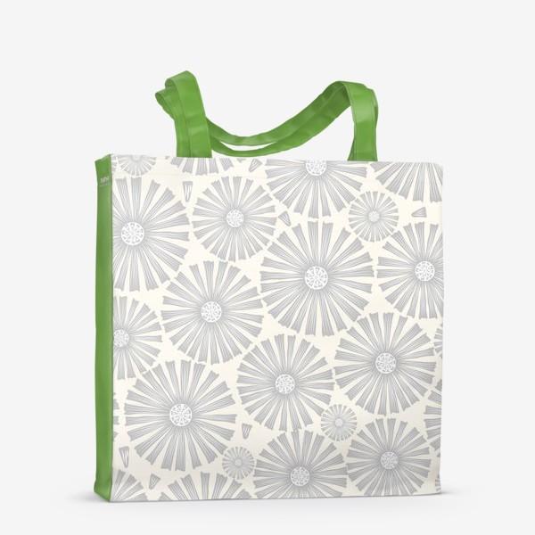 Сумка-шоппер «монохромные ромашки»