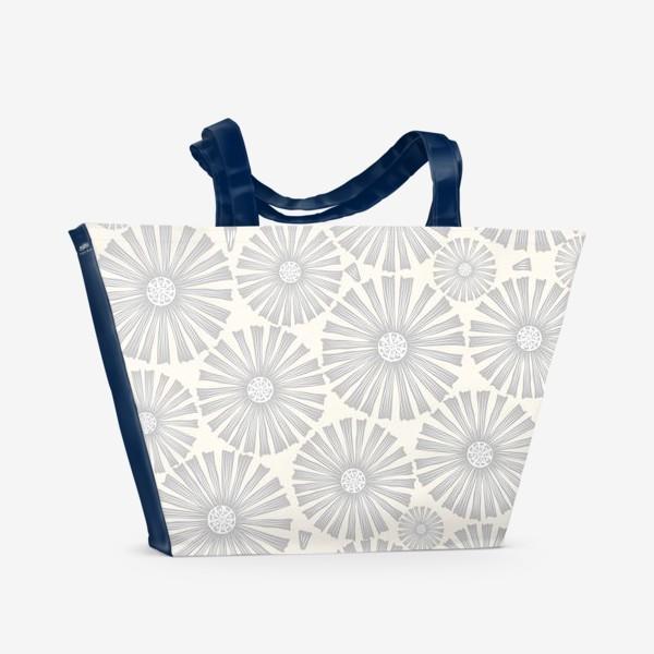 Пляжная сумка «монохромные ромашки»