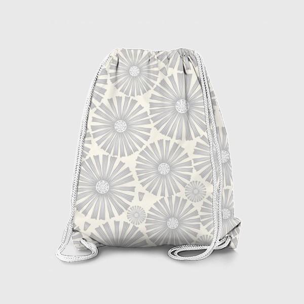 Рюкзак «монохромные ромашки»