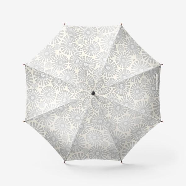 Зонт «монохромные ромашки»