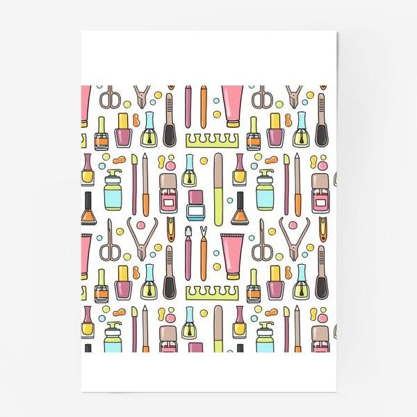 Постер «Маникюрный дудл паттерн»