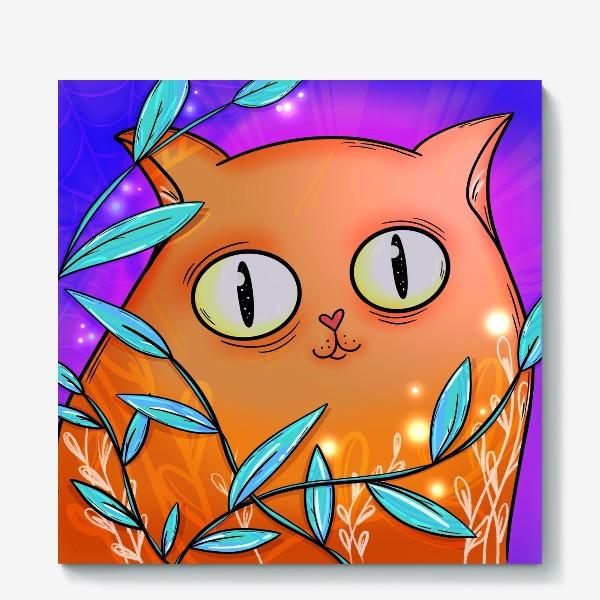 Холст «Рыжая кошка»