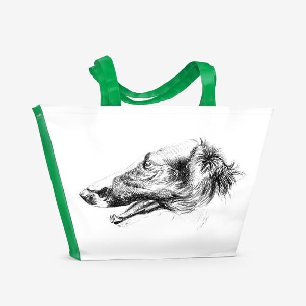 Пляжная сумка «Портрет собаки»