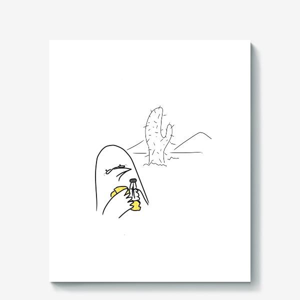 Холст «Птица любитель текилы »