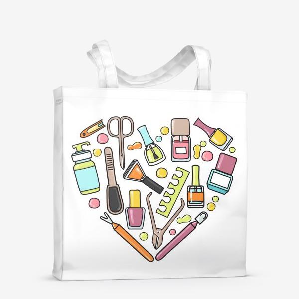 Сумка-шоппер «Маникюрная любовь»