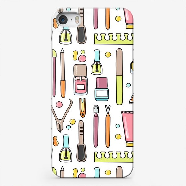Чехол iPhone «Маникюрный дудл паттерн»