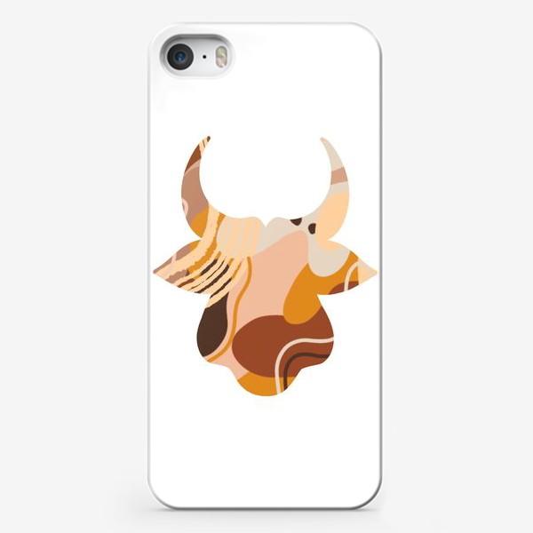 Чехол iPhone «Бык. Корова. Натуральные естественные сочетания. Современные цвета в стиле бохо. »