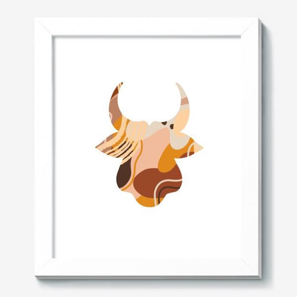 Картина «Бык. Корова. Натуральные естественные сочетания. Современные цвета в стиле бохо. »