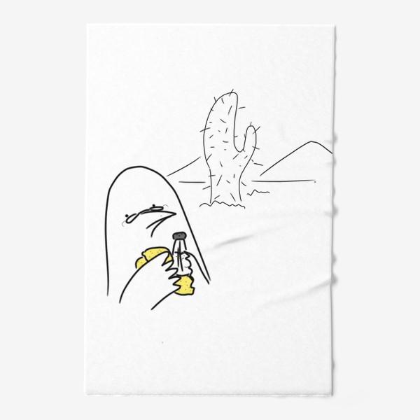 Полотенце «Птица любитель текилы »