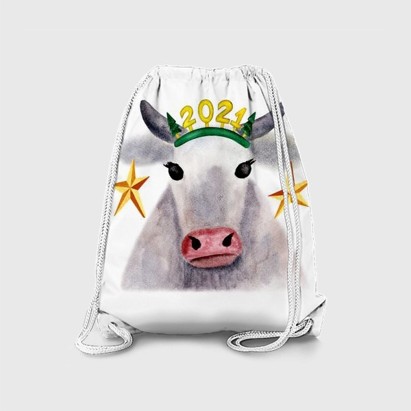 Рюкзак «Нарядная новогодняя буренка»