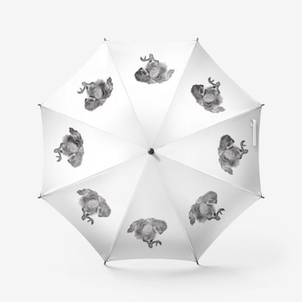 Зонт «Сова прыгает летит»