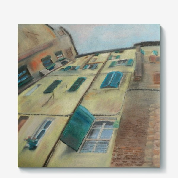 Холст «Италия. Небо Сиены»