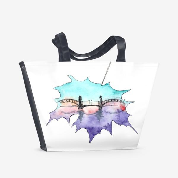 Пляжная сумка «Этот город обнимет тебя мостами...»