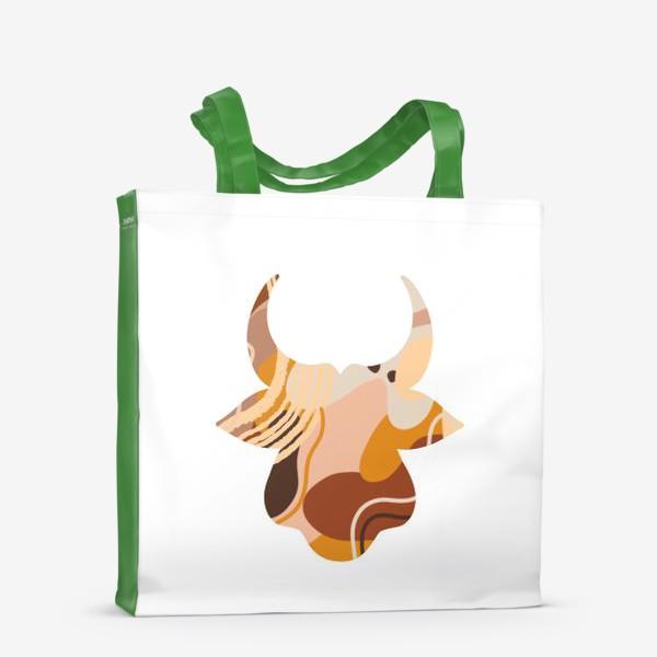 Сумка-шоппер «Бык. Корова. Натуральные естественные сочетания. Современные цвета в стиле бохо. »