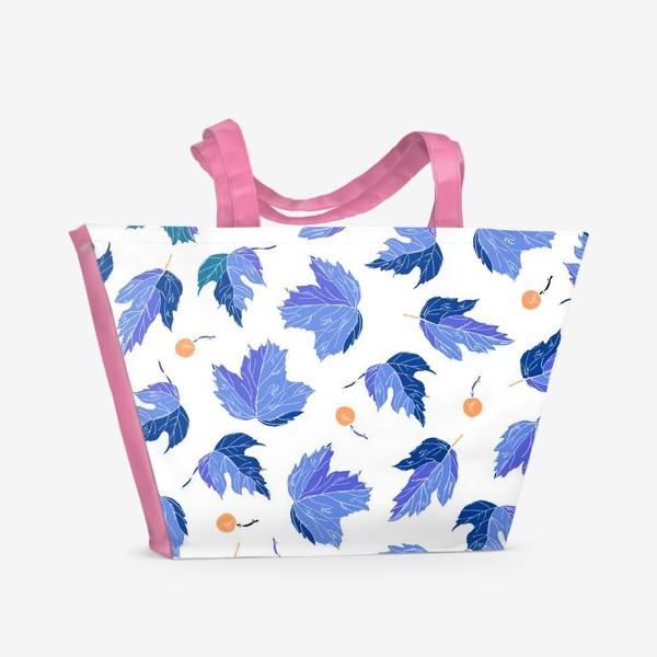 Пляжная сумка «ягоды и листья»
