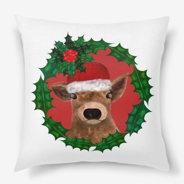 Подушка «Новогодний теленок Борька»
