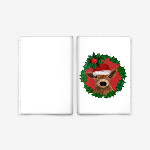 Обложка для паспорта «Новогодний теленок Борька»