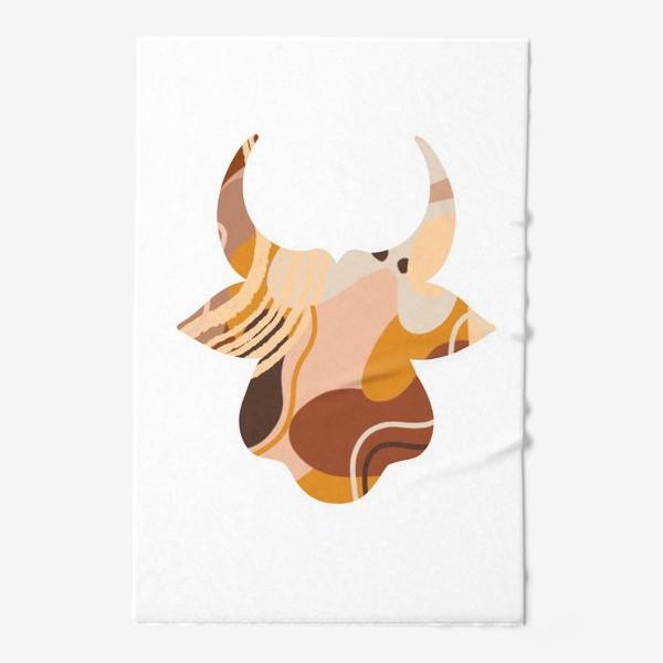 Полотенце «Бык. Корова. Натуральные естественные сочетания. Современные цвета в стиле бохо. »