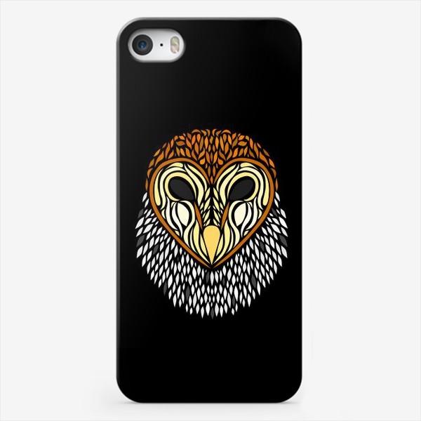 Чехол iPhone «Сова Сипуха на черном»