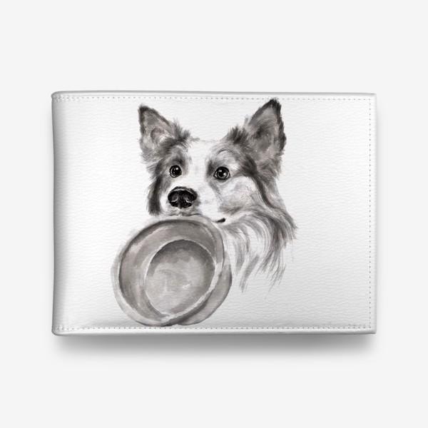 Кошелек «Портрет собака колли с миской»