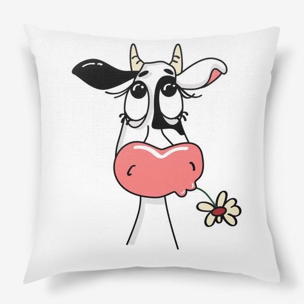 Подушка «Задумчивая коровка»