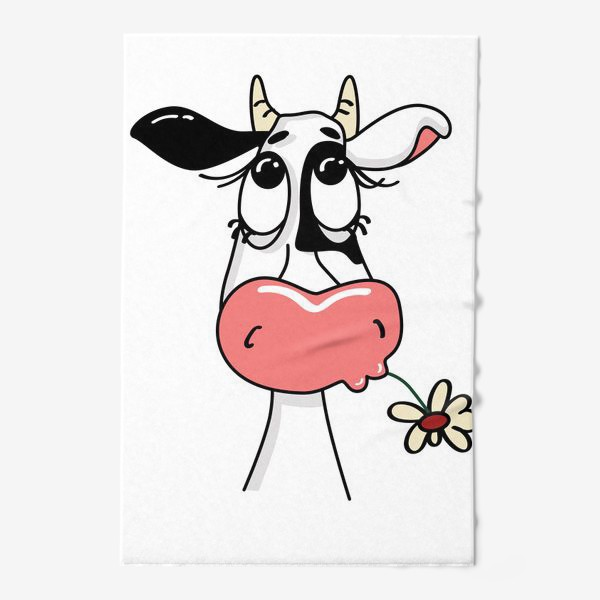 Полотенце «Задумчивая коровка»