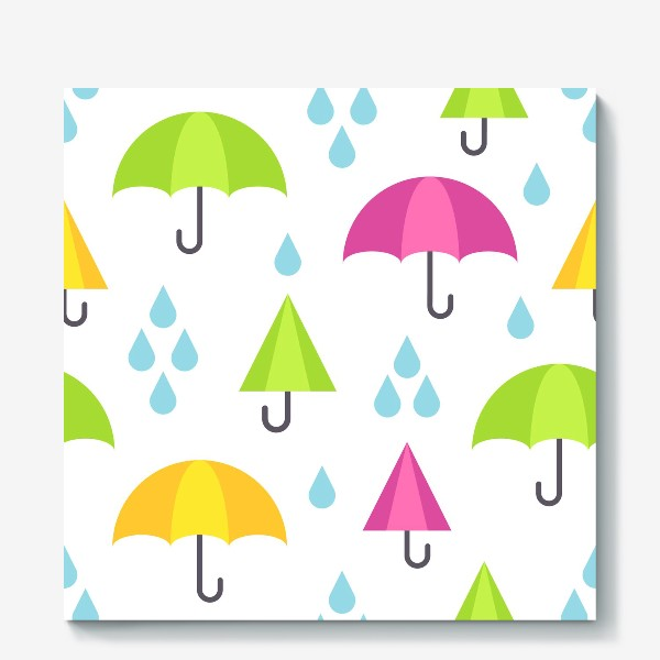 Холст «Веселые зонтики»