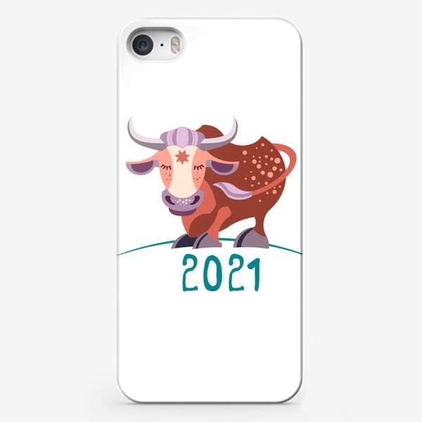Чехол iPhone «Бычок. Год Быка 2021»