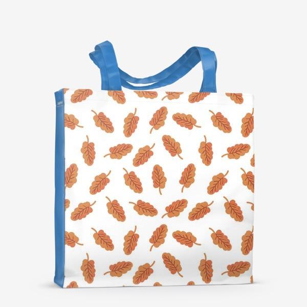 Сумка-шоппер «Осенние листья на белом фоне»