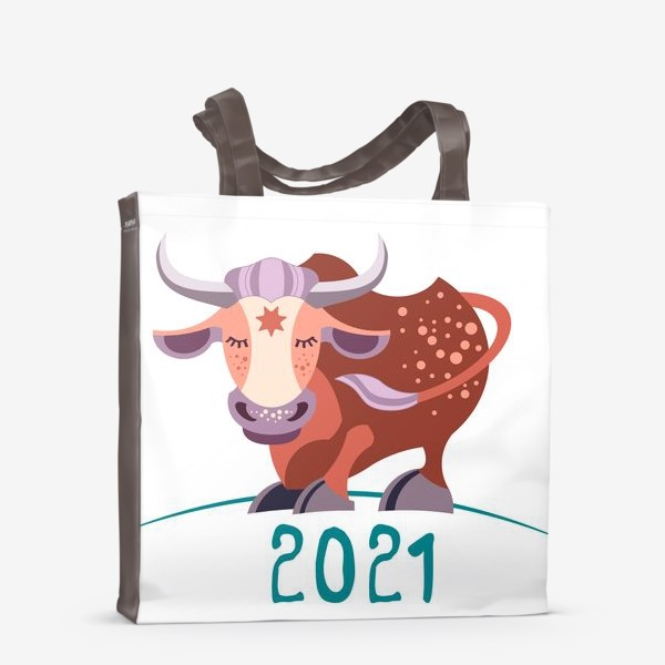 Сумка-шоппер «Бычок. Год Быка 2021»