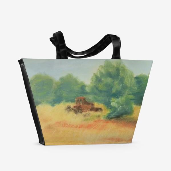 Пляжная сумка «Греческая деревня»