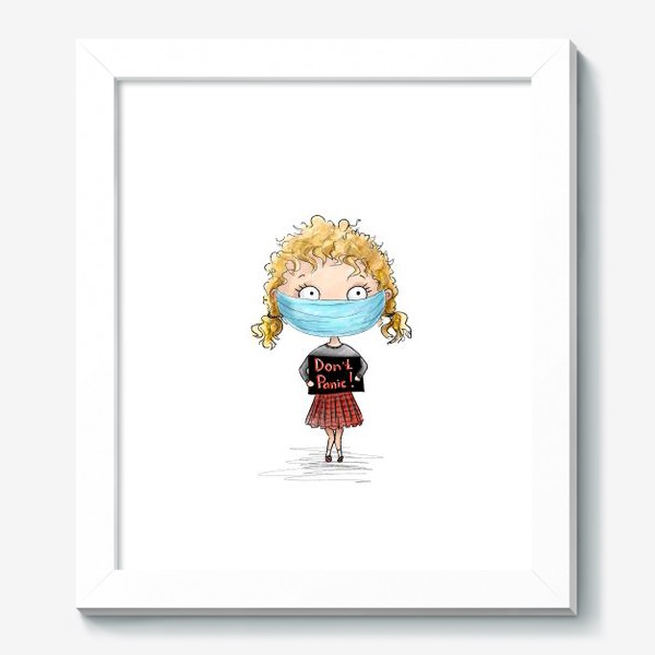 Картина «НЕ паникуй девочка в маске»