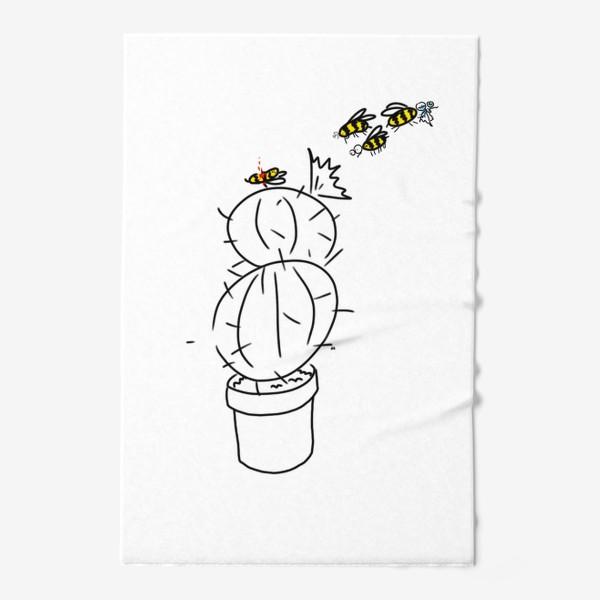 Полотенце «Несчастный случай у кактуса. Бедная пчела»
